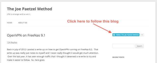 OpenVPN on FreeNas 9 1 | The Joe Paetzel Method